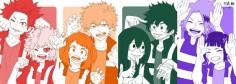 Boku no Hero Academia || Kirishima Eijirou, Mina Ashido, Uraraka Ochako, Katsuki Bakugou, Tsuyu Asui, Midoriya Izuku, Kaminari Denki, Kyouka Jirou.  ❤