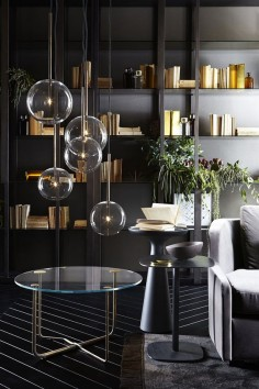 Bolle Sola, hanging lamp. Metal parts in hand burnished brass. Designed by Massimo Castagna for Gallotti&Radice