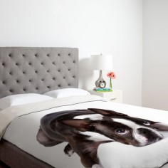 Boston terrier bed spread