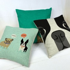 boston terrier decorative throw pillows/almofadas case for sofa car bed 45x45 cute dog cushion cover home decore