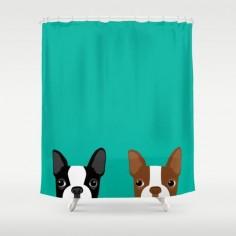 Boston Terriers Shower Curtain