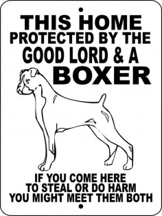 "BOXER Dog Sign 9""x12"" ""ALUMINUM"" glbox2 on Etsy, $"