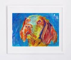 Brittany Spaniel dog paintingdog gift idea Dog by OjsDogPaintings #brittanyspaniel #brittany #spaniel #dog #art #painting