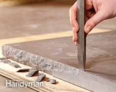 Build Your Own Concrete Table. Could use this same process for a countertop