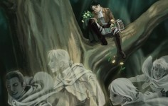 BUT THEYRE ALL DEAD AND LOOK HOW SAD LEVI LOOKS IM DONE WITH THE WORLD WHY ATTACK ON TITAN WHY! #snk #attackontitan