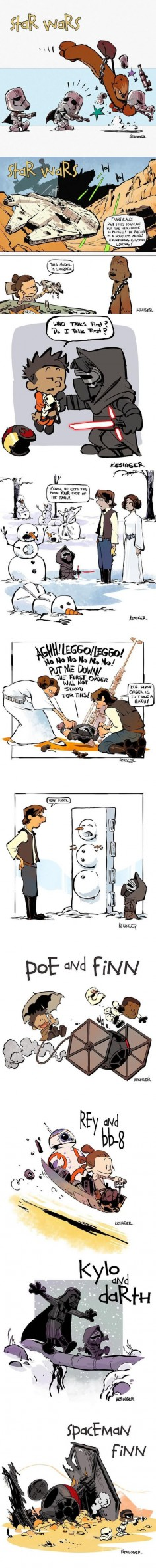 Calvin & Hobbes style Star Wars: The Force Awakens - 9GAG