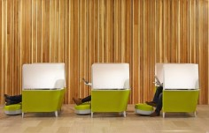 Can't focus in an open office? Seems this isn't quite the solution. How do you close the door?