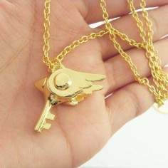 Cardcaptor Sakura Gold Sealing Wand Necklace