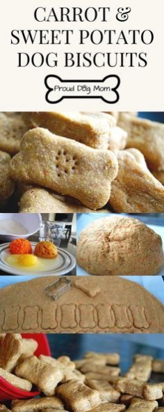 Carrot & Sweet Potato Dog Biscuits