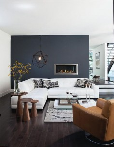 Charcoal gray wall