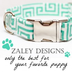 Check out Zaley Designs on Etsy! CUTE #dog collars for any fashionista puppy :)