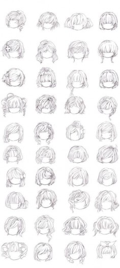 Chibi Hairstyles.