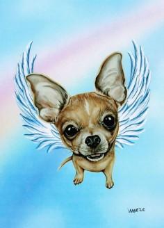 Chihuahua Angel Chihuahua Art Chihuahua Print Dog by ArtbyWeeze, $