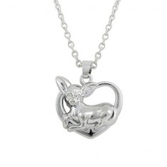 Chihuahua Heart Pendant w/ Necklace