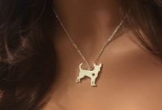 Chihuahua Pendant Necklace - Gold or Silver - If you love your dog, this necklace is perfect way to show it.