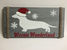 Christmas Dachshund Decor | Dachshund Sign by SteviLus on Etsy