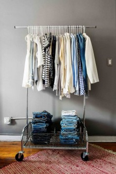 Closet Makeover: How I Made My Small NYC Space Feel Spacious via @Who What Wear