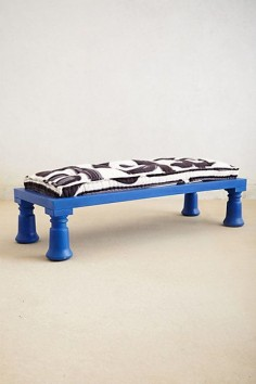 Cobalt Bench #anthropologie.  Love it.
