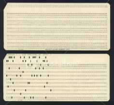 Computer Punch Cards. Boy have computers come a long way!