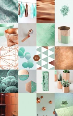 Contemporary Colour - Copper + Mint