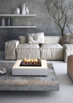 Contemporary double-sided fireplace (bioethanol open hearth) - INCASSO 125B, Biocamino - MAISONFIRE