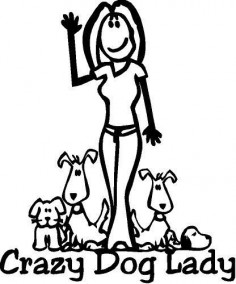 Crazy Dog Lady by mpotsch on Etsy, $