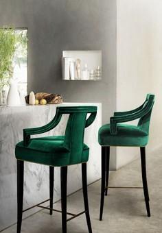 Creative Tonic loves emerald green bar stools