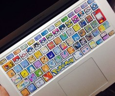 Customise your keyboard with these cute Pokemon Keyboard Stickers! #pokemon #kawaii #anime