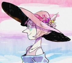 Cute Pearl drawing of Pearl in a BEAUTIFUL sun hat! ☀