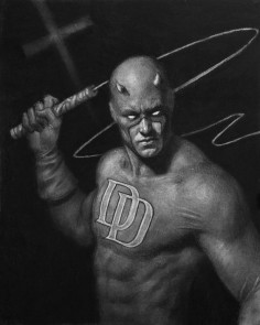 Daredevil by Matt Buck 15×20 charcoal