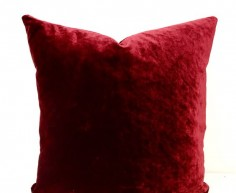 Dark Red Velvet Pillow Cover,Velvet Pillow,Throw Pillow,Red Pillow,Burgundy Pillow,Red velvet Sofa Couch Throw Cushion Pillow Case Covers by artdecopillow on Etsy