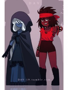 "dav-19: ""Black Sapphire and Black Ruby (NegaSapphire and NegaRuby) """