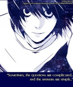 Death Note. Inspirational manga. Anime Quote.