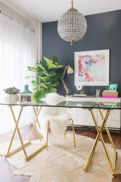 Desi Perkins   Before and After: A YouTube Star's Glam Office Makeover