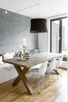 Dining space | table, bench, chairs, lighting