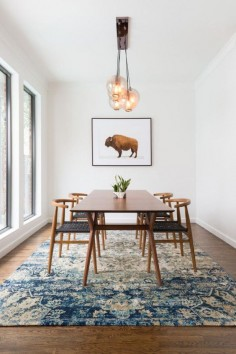 Dining Space | Wishbone Chair | Globe Pendant