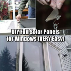 "DIY Foil Solar Panels for Windows (VERY Easy) - They are VERY easy to make and hang ""INSIDE"" your window where you don't need to concern yourself with zoning codes or big ugly boxes hanging on the side on your house."