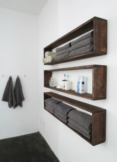 DIY Wall Shelves - How to Make Hanging Storage for an Organized Bathroom (tutorial)