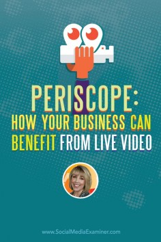 Do you broadcast on Periscope? Want to use it to connect with and grow your audience? To discover how to use Periscope for your business, Michael Stelzner interviews @Kim Garst. Via @Social Media Examiner.