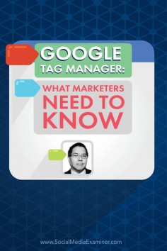Do you use tracking codes on your website?  Have you heard of Google Tag Manager?  To discover what Google Tag Manager is and how to use it, Michael Stelzner interviews @Christopher Penn. Via @Social Media Examiner.