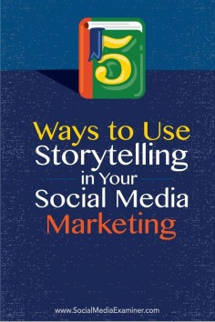 Do you want to use storytelling in your social media marketing?  Are you looking for inspiration?  Building your social media campaigns around stories helps you stand out from other brands, and grab the attention of consumers.  In this article youll disc