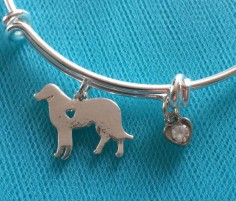 Dog bracelet; dog charm bracelet; Labrador retriever bracelet; Labrador retriever charm bracelet