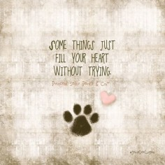 Dogs are THE best!! ..ad this would be cute if you made your own on canvas and used your dogs actual paw print and then have his memory forever!