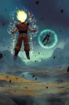 Dragon Ball - Goku vs Cell - PROCESS VIDEO by ~Hideyoshi on deviantART