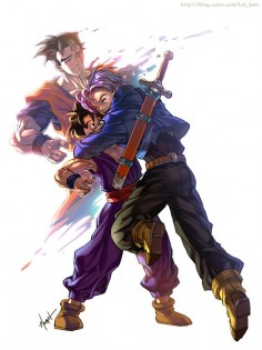 Dragonball Z - Trunks - Gohan - By GoddessMechanic on DeviantArt