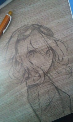 Drawing on the  awesome and really well done! :) I think it's supposed to be Mozaic Role Gumi.