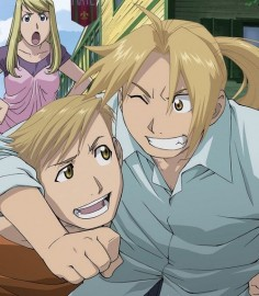 Ed, Al, and Winry.