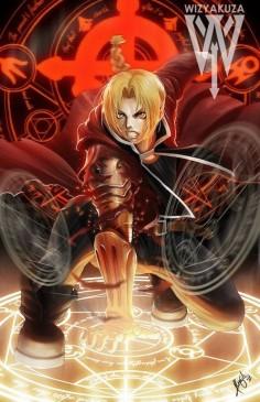 Edward Elric Fullmetal Alchemist 11 x 17 Digital by Wizyakuza