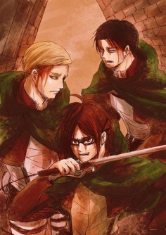 Erwin Smith | Shingeki no Kyojin #Erwin_Smith #Hanji #Levi
