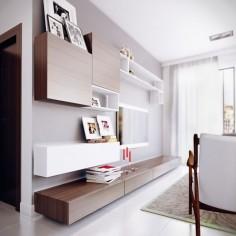 Estella  by Koj Design - tv fal elrendezé egy számítógép asztal is kellene